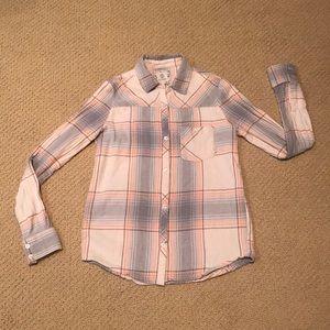 Element plaid flannel button down shirt S
